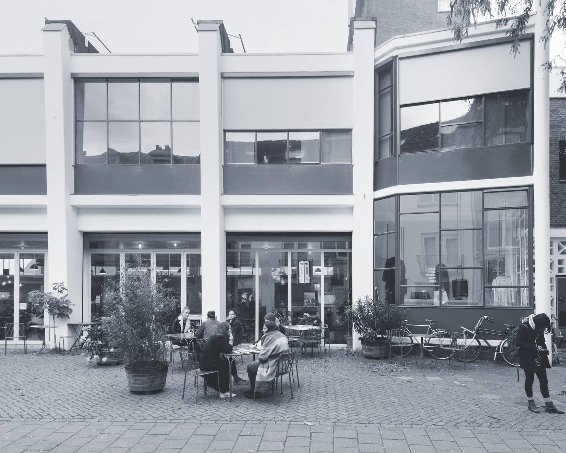 Exterieur van de Brandweer Kantine in beheer van Stichting IPAL Integratie Parkmanagement en Arbeidstoeleiding Limburg gebouw en gebiedsmanagement