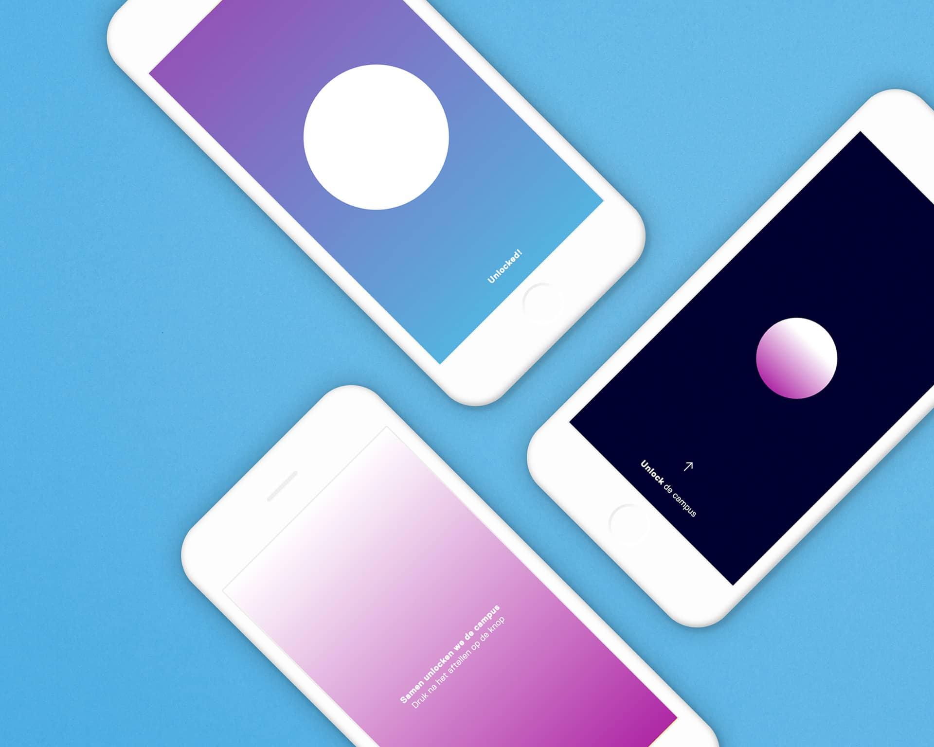 Mobile iPhone app voor de opening van de Brightlands Smart Services Campus in Heerlen ontworpen en ontwikkeld door Saus