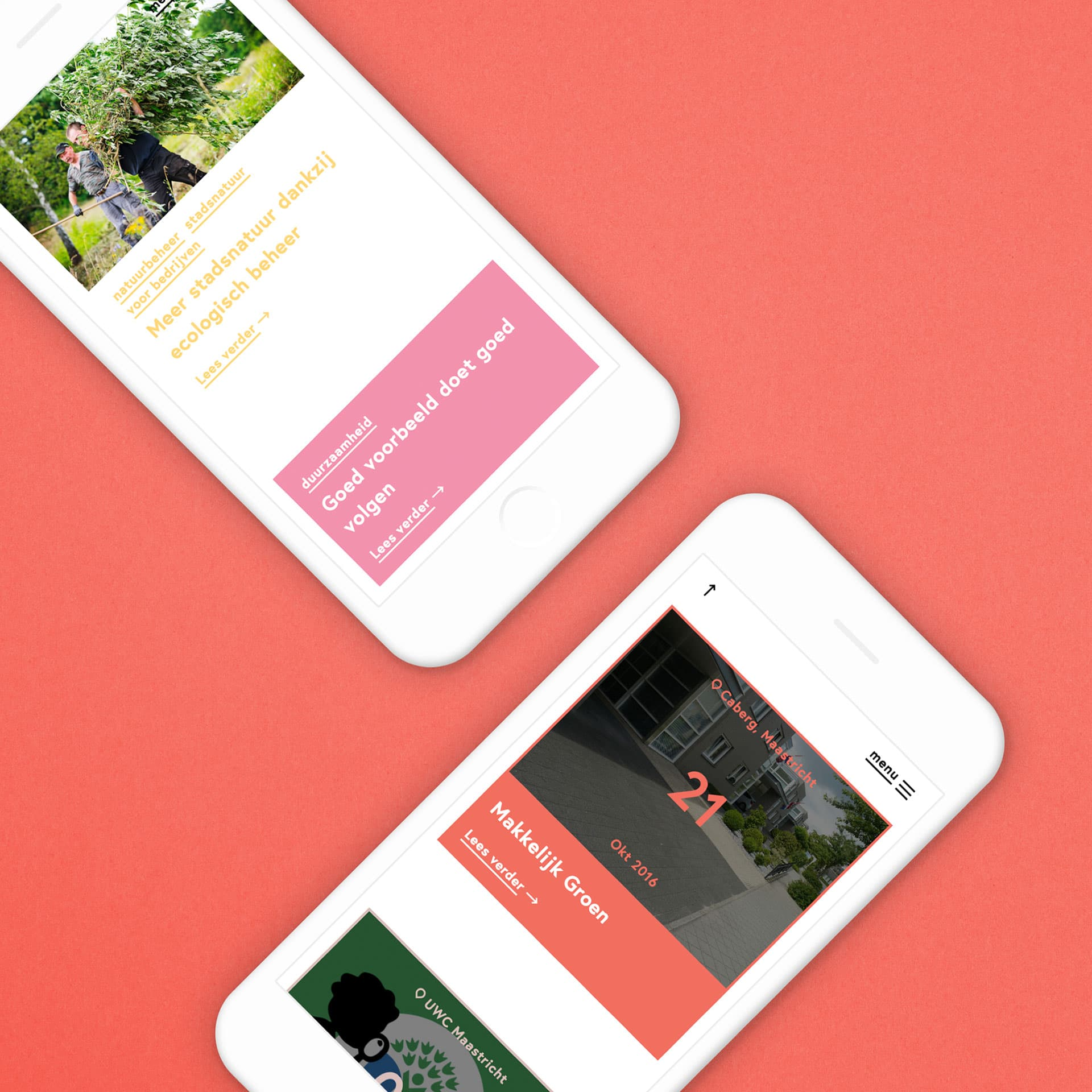 CNME Maastricht en regio Centrum voor Natuur- en Milieueducatie website ontworpen door Saus
