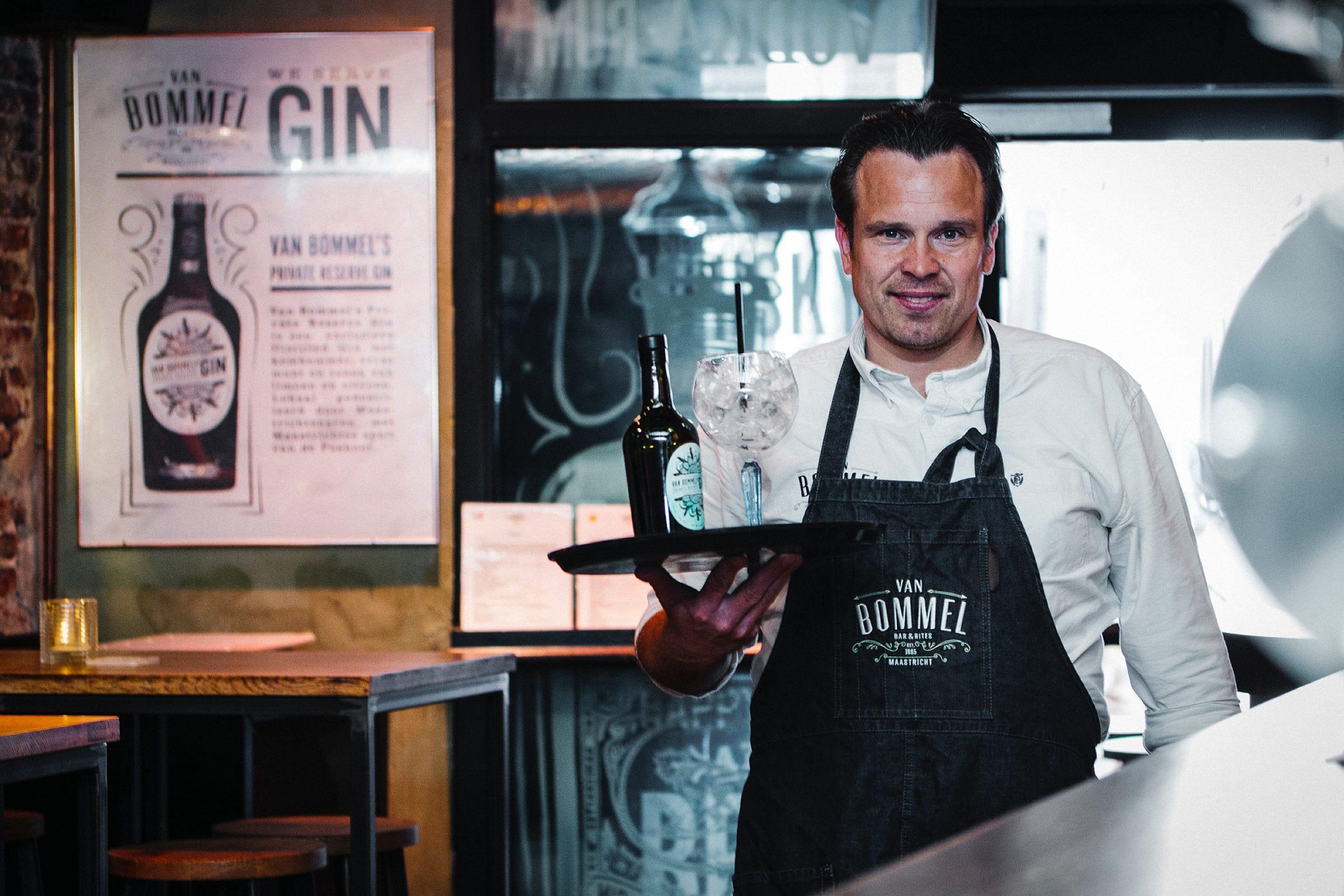 Van Bommel's Private reserve Gin ontworpen door Saus