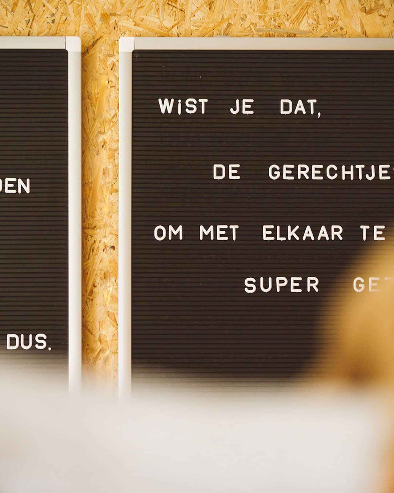 Interieur van restaurant Bijzonder in Maastricht