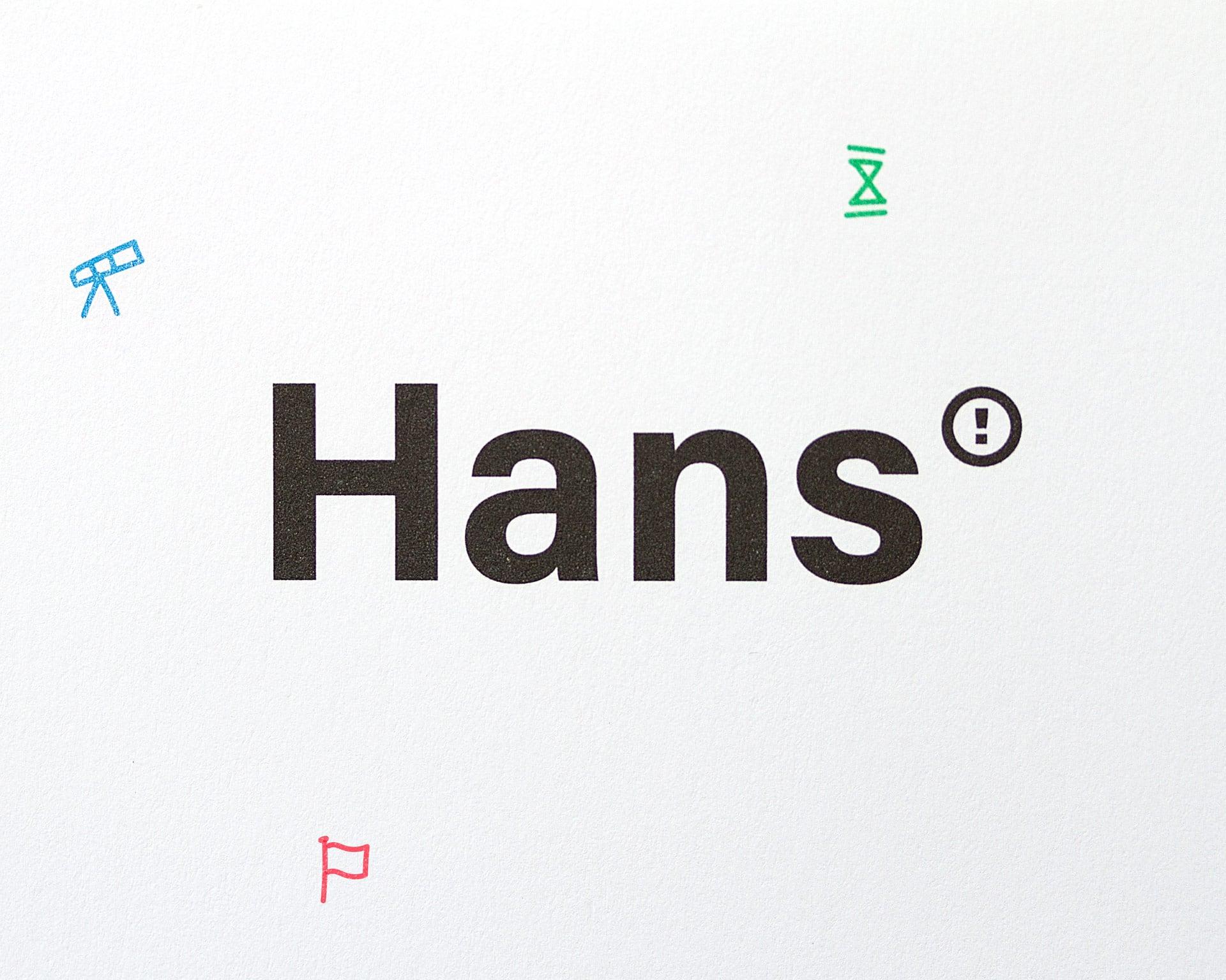 Hans training en advies Hans Duineveld huisstijl logo illustraties